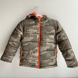 Faded Glory Boys Camo Puffer Jacket Size 8